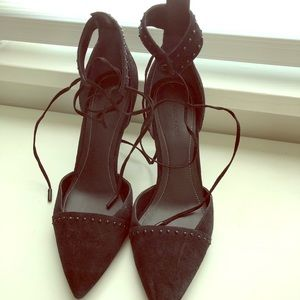 Kendal & Kylie black studded pointed shoes
